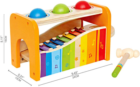Enjoy fast, free nationwide shipping!  Owned by a husband and wife team of high-school music teachers, Redtailtoys.com is your one stop shop for quality toys & gifts like our Yellow Pound & Tap Bench w/ Slide Out Xylophone.
