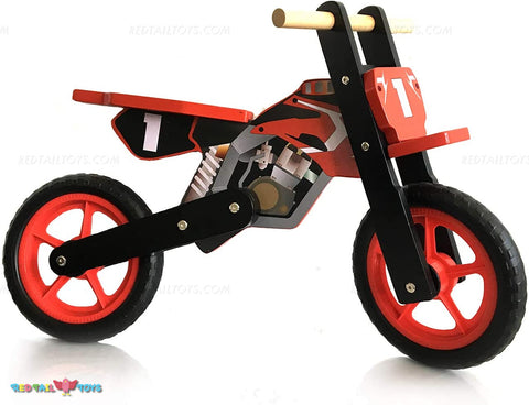 Enjoy fast, free nationwide shipping!  Owned by a husband and wife team of high-school music teachers, Redtailtoys.com is your one stop shop for quality toys & gifts like our Wooden Balance Bike - Motorbike Style.