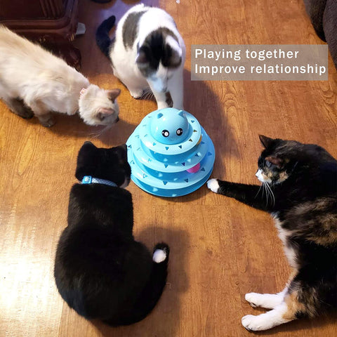 Enjoy fast, free nationwide shipping!  Owned by a husband and wife team of high-school music teachers, Redtailtoys.com is your one stop shop for quality toys & gifts like our Blue Cat Toy Roller 3-Level Turntable Cat Toy Balls.