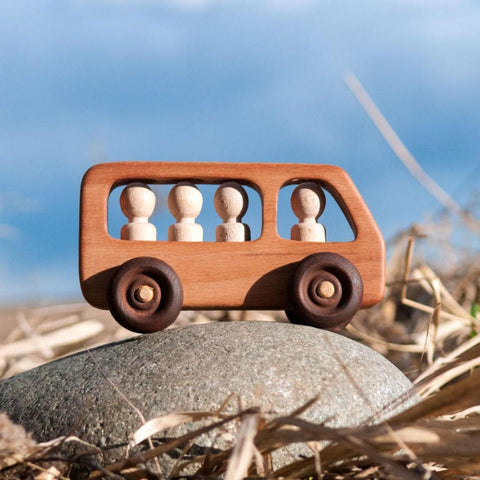 Enjoy fast, free nationwide shipping!  Owned by a husband and wife team of high-school music teachers, Redtailtoys.com is your one stop shop for quality toys & gifts like our Handmade Wooden Push Bus Toy w/ Montessori People.