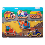 Enjoy free fast shipping on ethically made, custom handcrafted toys & baby shower gifts at Redtailtoys.com like our Chunky Board Puzzle - Trucks & Construction Vehicles.  Shop quality Montessori, educational, learning, Waldorf, building, creative, free-play, imaginative play, safe, eco-friendly, imported and USA-handmade wooden toys.