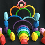Enjoy free fast shipping on ethically made, custom handcrafted toys & baby shower gifts at Redtailtoys.com like our Handmade Small Wooden Rainbow Stacker Toy.  Shop quality Montessori, educational, learning, Waldorf, building, creative, free-play, imaginative play, safe, eco-friendly, imported and USA-handmade wooden toys.