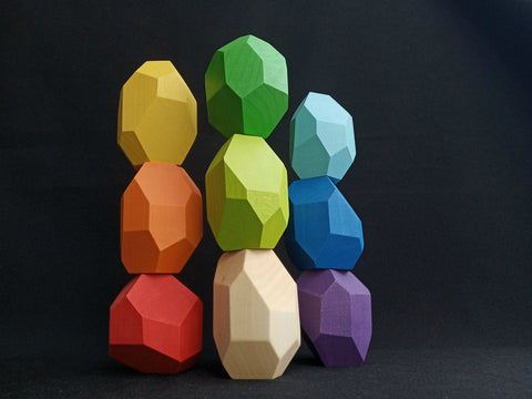 Enjoy free fast shipping on ethically made, custom handcrafted toys & baby shower gifts at Redtailtoys.com like our Tumi Ishi Solid Wood Rainbow Balancing Toy Set for Baby.  Shop quality Montessori, educational, learning, Waldorf, building, creative, free-play, imaginative play, safe, eco-friendly, imported and USA-handmade wooden toys.