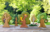 Handcrafted Heirloom Wooden Woodland Animals 9pcs & Trees 5pcs