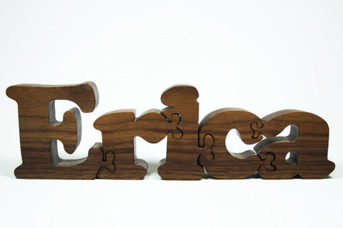USA Handmade Custom Crafted Baby Name Puzzles