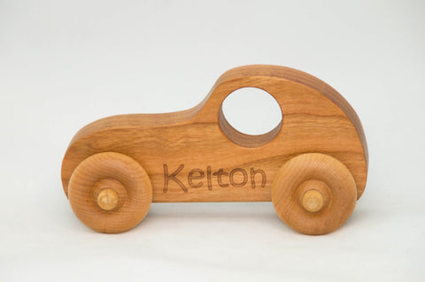 USA Handmade Wooden Push Toy Car Includes Custom Engraving