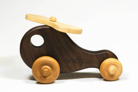 Enjoy fast, free nationwide shipping!  Owned by a husband and wife team of high-school music teachers, Redtailtoys.com is your one stop shop for quality toys & gifts like our Handmade Wooden Push Toy Helicopter Includes Custom Engraving.