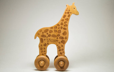 Enjoy free fast shipping on ethically made, custom handcrafted toys & baby shower gifts at Redtailtoys.com like our USA Handmade Wooden Push Toy Giraffe Includes Custom Engraving.  Shop quality Montessori, educational, learning, Waldorf, building, creative, free-play, imaginative play, safe, eco-friendly, imported and USA-handmade wooden toys.