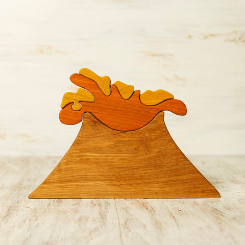 Enjoy free fast shipping on ethically made, custom handcrafted toys & baby shower gifts at Redtailtoys.com like our Handmade Heirloom-Quality Hardwood Waldorf Volcano Puzzle.  Shop quality Montessori, educational, learning, Waldorf, building, creative, free-play, imaginative play, safe, eco-friendly, imported and USA-handmade wooden toys.