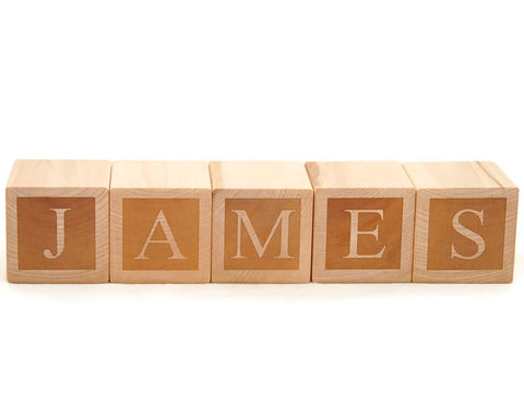 USA Handmade Custom Personalized Nursery Baby Name Blocks
