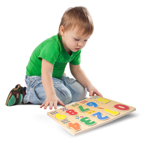 Enjoy free fast shipping on ethically made, custom handcrafted toys & baby shower gifts at Redtailtoys.com like our Wooden Puzzle - Numbers.  Shop quality Montessori, educational, learning, Waldorf, building, creative, free-play, imaginative play, safe, eco-friendly, imported and USA-handmade wooden toys.
