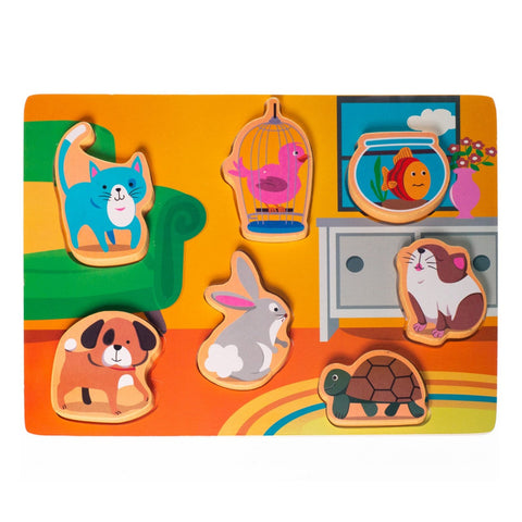 Chunky Wooden Board Puzzle - Pets