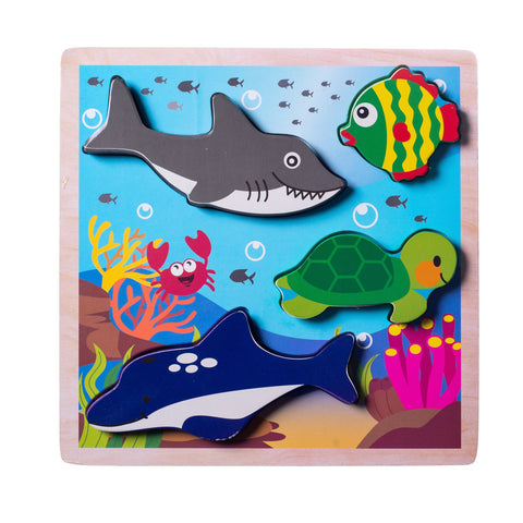 Enjoy free fast shipping on ethically made, custom handcrafted toys & baby shower gifts at Redtailtoys.com like our Chunky Wooden Board Puzzle - Ocean Animals.  Shop quality Montessori, educational, learning, Waldorf, building, creative, free-play, imaginative play, safe, eco-friendly, imported and USA-handmade wooden toys.