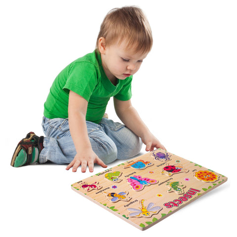Enjoy free fast shipping on ethically made, custom handcrafted toys & baby shower gifts at Redtailtoys.com like our Wooden Puzzle - Insects.  Shop quality Montessori, educational, learning, Waldorf, building, creative, free-play, imaginative play, safe, eco-friendly, imported and USA-handmade wooden toys.