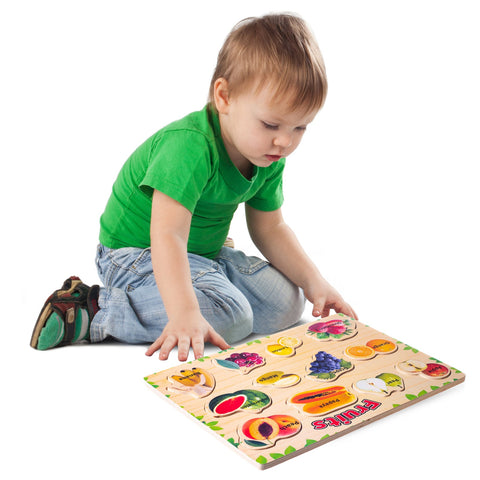 Enjoy fast, free nationwide shipping!  Owned by a husband and wife team of high-school music teachers, Redtailtoys.com is your one stop shop for quality toys & gifts like our Wooden Peg Puzzle - Fruits.