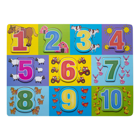 Wooden Puzzle - Numbers 1-10