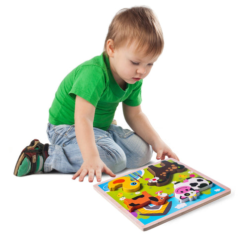 Enjoy free fast shipping on ethically made, custom handcrafted toys & baby shower gifts at Redtailtoys.com like our Chunky Wooden Board Puzzle - Farm Animals.  Shop quality Montessori, educational, learning, Waldorf, building, creative, free-play, imaginative play, safe, eco-friendly, imported and USA-handmade wooden toys.