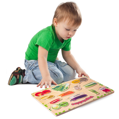 Enjoy free fast shipping on ethically made, custom handcrafted toys & baby shower gifts at Redtailtoys.com like our Wooden Puzzle - Vegetables.  Shop quality Montessori, educational, learning, Waldorf, building, creative, free-play, imaginative play, safe, eco-friendly, imported and USA-handmade wooden toys.