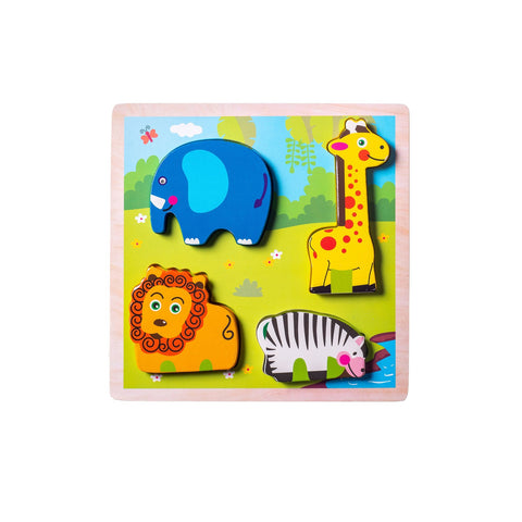 Chunky Wooden Board Puzzle - Safari Animals