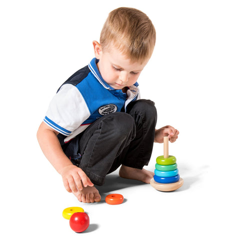 Enjoy free fast shipping on ethically made, custom handcrafted toys & baby shower gifts at Redtailtoys.com like our Colorful Small Wooden Stacking Ring Toy.  Shop quality Montessori, educational, learning, Waldorf, building, creative, free-play, imaginative play, safe, eco-friendly, imported and USA-handmade wooden toys.