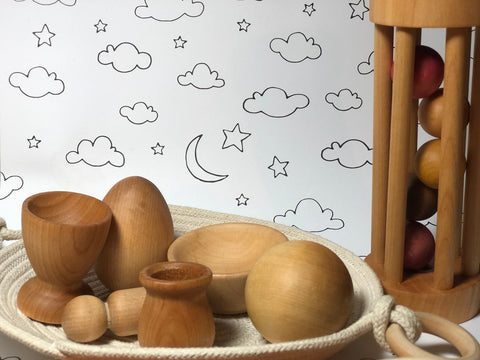 Enjoy fast, free nationwide shipping!  Owned by a husband and wife team of high-school music teachers, Redtailtoys.com is your one stop shop for quality toys & gifts like our Handcrafted Essential Montessori 6-9 Months Toy Set.