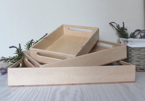 Enjoy free fast shipping on ethically made, custom handcrafted toys & baby shower gifts at Redtailtoys.com like our Handmade Montessori Sorting Tray Set.  Shop quality Montessori, educational, learning, Waldorf, building, creative, free-play, imaginative play, safe, eco-friendly, imported and USA-handmade wooden toys.