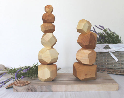 Enjoy free fast shipping on ethically made, custom handcrafted toys & baby shower gifts at Redtailtoys.com like our Handcrafted Tumi Ishi Wood Balancing Blcoks for Baby/Toddler.  Shop quality Montessori, educational, learning, Waldorf, building, creative, free-play, imaginative play, safe, eco-friendly, imported and USA-handmade wooden toys.