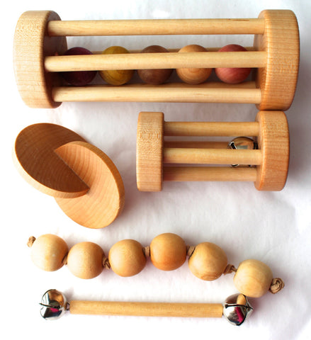 Enjoy free fast shipping on ethically made, custom handcrafted toys & baby shower gifts at Redtailtoys.com like our Handcrafted Essential Montessori Baby Shower Gift Set - Five Pack.  Shop quality Montessori, educational, learning, Waldorf, building, creative, free-play, imaginative play, safe, eco-friendly, imported and USA-handmade wooden toys.