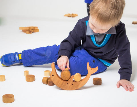Enjoy free fast shipping on ethically made, custom handcrafted toys & baby shower gifts at Redtailtoys.com like our Handmade Heirloom-Quality Hardwood Dolphin Montessori Balance Toy.  Shop quality Montessori, educational, learning, Waldorf, building, creative, free-play, imaginative play, safe, eco-friendly, imported and USA-handmade wooden toys.