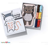 Enjoy free fast shipping on ethically made, custom handcrafted toys & baby shower gifts at Redtailtoys.com like our Dress Me Up Lacing Boards - Baby Animals.  Shop quality Montessori, educational, learning, Waldorf, building, creative, free-play, imaginative play, safe, eco-friendly, imported and USA-handmade wooden toys.