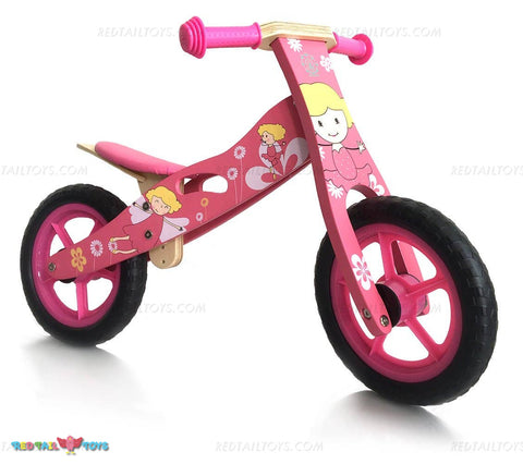 Enjoy fast, free nationwide shipping!  Owned by a husband and wife team of high-school music teachers, Redtailtoys.com is your one stop shop for quality toys & gifts like our Wooden Balance Bike - Pink.