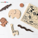 Enjoy free nationwide shipping on eco-friendly, sustainably USA sourced toys & games at Redtailtoys.com like our Hardwood Tray Puzzle - Safari Animals.  Shop play, educational, STEM, Montessori, Waldorf, wooden, sustainable, learning, action, girl, boy, stuffed, puzzle, toddler, baby, infant, cars, outdoors, indoors, building, creative, balance bikes, musical instruments, and more.