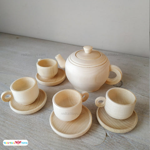 Enjoy free nationwide shipping on eco-friendly, sustainably USA sourced toys & games at Redtailtoys.com like our Handcrafted Solid-Wood Tea Set  w/ Dishes.  Shop play, educational, STEM, Montessori, Waldorf, wooden, sustainable, learning, action, girl, boy, stuffed, puzzle, toddler, baby, infant, cars, outdoors, indoors, building, creative, balance bikes, musical instruments, and more.
