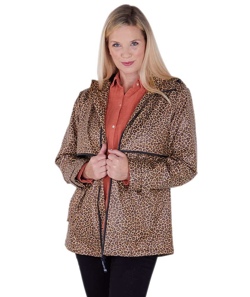 Charles River. WOMEN'S ANIMAL PRINT NEW ENGLANDER RAIN JACKET