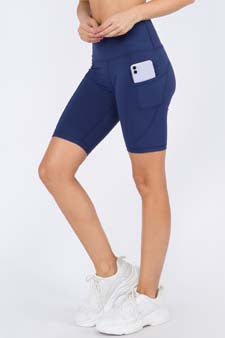 Women's Active Buttery Soft Biker Shorts with Pockets in 3 Colors