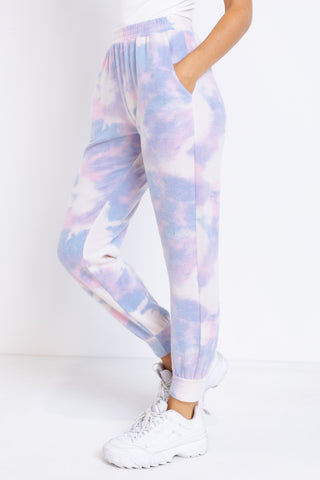 Jenna Tie-Dye Bottom with Pockets by Le Lis
