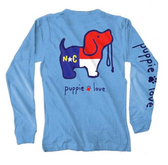 NORTH CAROLINA PUP, Long Sleeve, Carolina Blue.