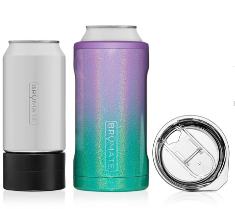 BRUMATE. HOPSULATOR TRÍO 3-IN-1 | GLITTER MERMAID (16OZ/12OZ CANS)