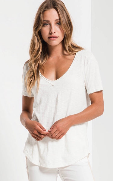 THE COTTON SLUB V-NECK TEE, by Z Supply