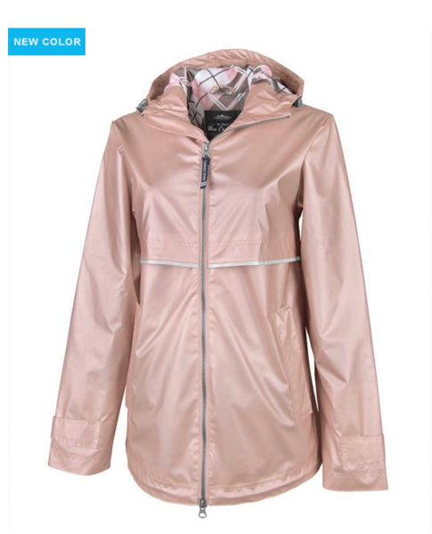 Charles River Raincoat Rose Gold
