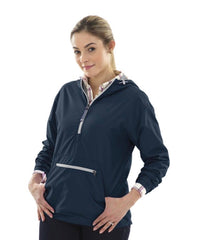 Charles River.  WOMEN'S CHATHAM ANORAK SOLID. Navy.