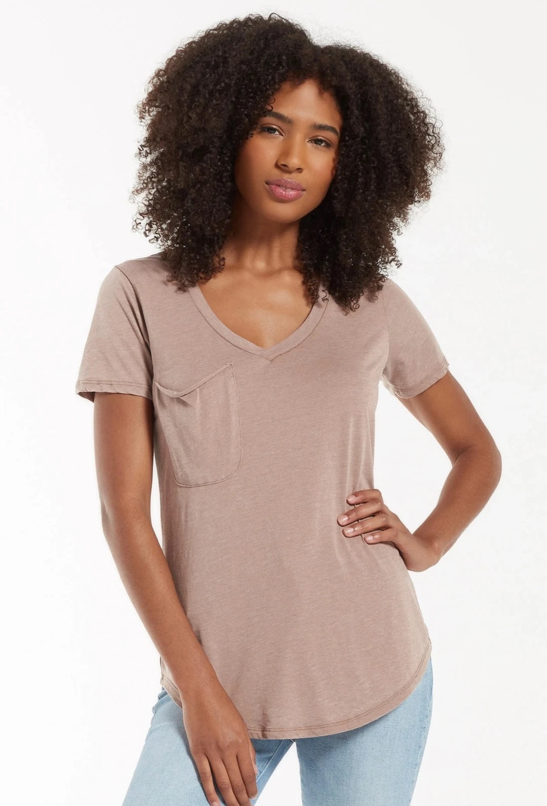The Pocket Tee , Taupe Grey by Z Supply