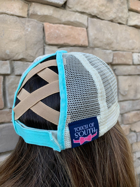Vintage High Ponytail Hat by Touch of South