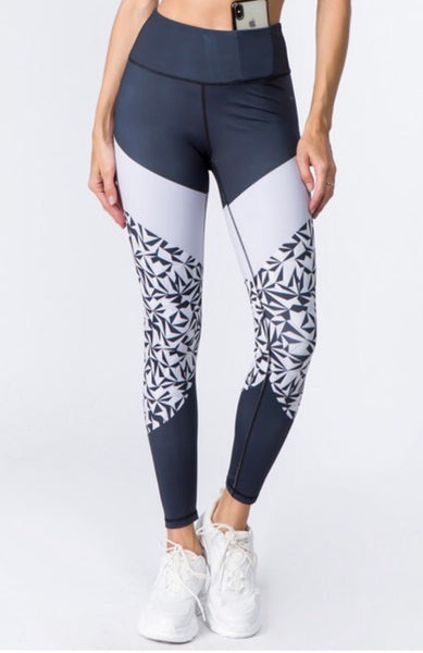 Women's Active Geometric Print Workout Leggings.