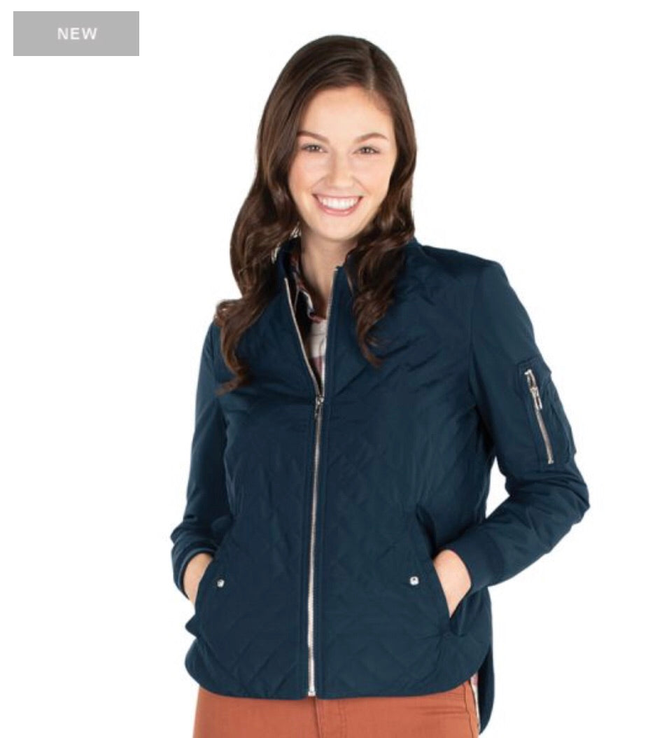 Charles River. WOMEN'S QUILTED BOSTON FLIGHT JACKET