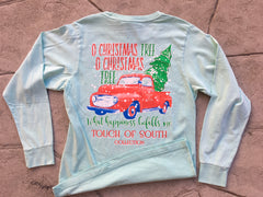 O Christmas Tree.... Long Sleeve. Celadon.