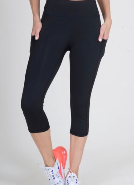 Women's Active High Rise 5-Pocket Capri Leggings.