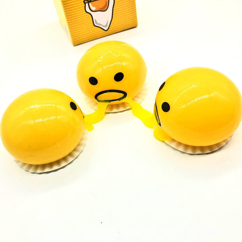 Squishy Vomiting Egg Yolk Stress Ball