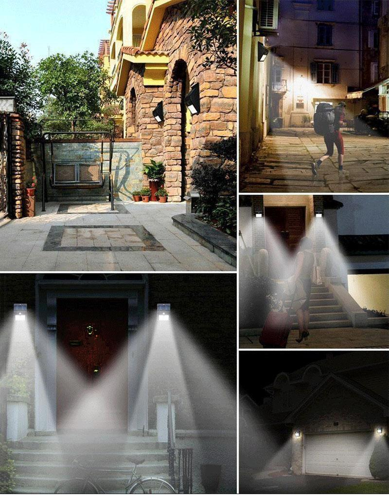 Solar Powered Outdoor Waterproof Motion Sensor Solar Wall Light 25/30 LED