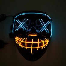 Load image into Gallery viewer, LED Purge Mask - Blue & Orange
